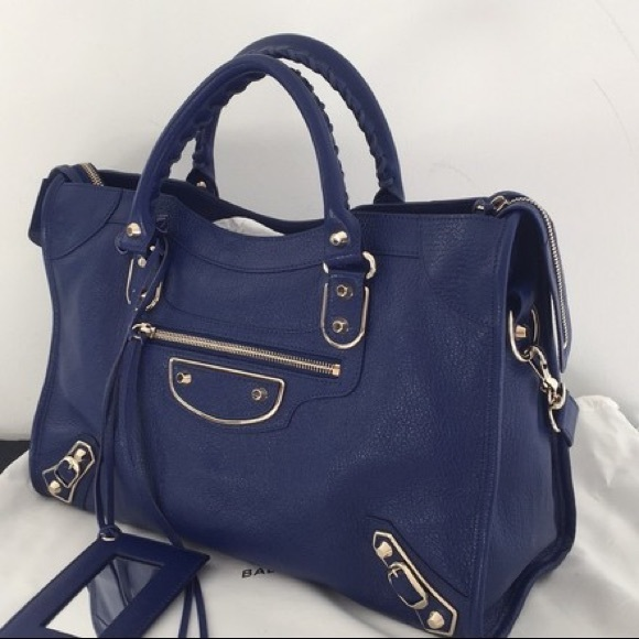 4250ef0f4879 Balenciaga Metallic Edge Classic City Blue Goat
